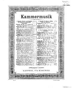 Goetz H. - Piano quintet c-moll, op.16
