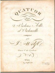 Wolfl J. - String quartet C-Dur op.41