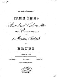 Bruni A. - Allegro Maestoso (1st mov.) Trio and Bass