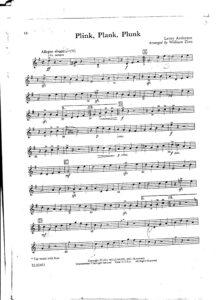 Anderson L. - Plink, Plank, Plunk for String Quartet