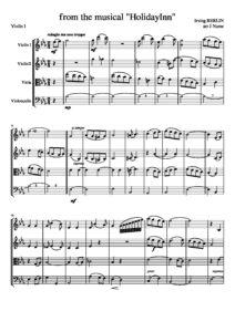 Berlin I. - White Christmas for String Quartet