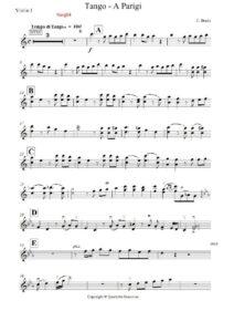 Bruin C. - Tango - A Parigi for String Quartet