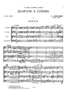 Magnard A. - String quartet e-moll op.16