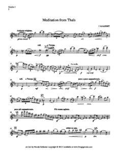 """Massenet J. - Meditation from """"Thais"""" for String Quartet"""
