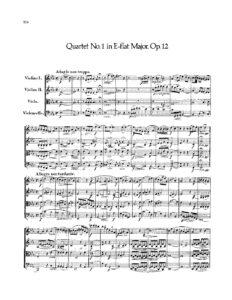 Mendelssohn F. - String Quartet №1 Es-Dur Op.12