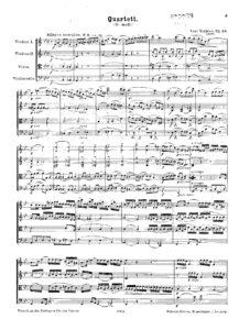 Nielsen C. - String quartet g-moll Op.13
