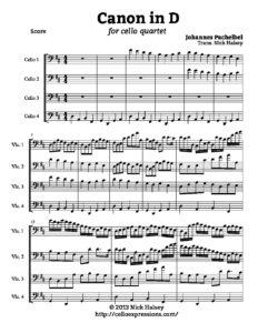 Pachelbel J. - Canon in D-Dur for Cello Quartet (arr. Halsey N.)