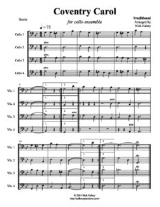 Traditional - Coventry Carol for Cello Quartet (arr. Halsey N.)