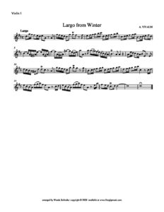 Vivaldi A. - Largo from Winter The Four Seasons for String Quartet