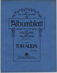 Aulin T. - Albumblatt for Violin and Piano