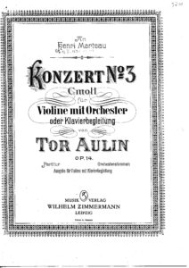 Aulin T. - Concert №3 Op,14 for Violin and Orchestra