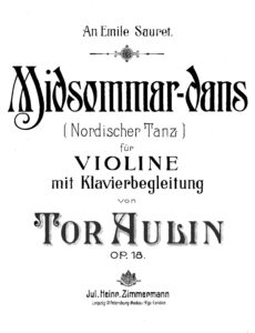 Aulin T. - Midsummer Dance for Violin and Piano Op.18