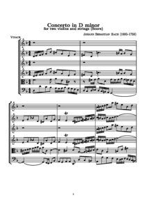 Bach J.S. - Concerto for Two Violins and a Chamber Orchestra V.2 Score