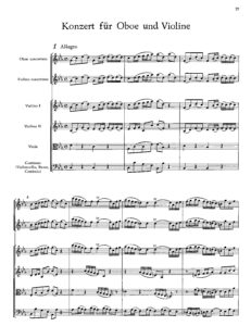 Bach J.S. - Concerto for Violin and Oboe with Orchestra Score