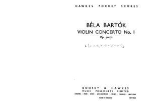 Bartok B. - Concerto №1 for Violin Score
