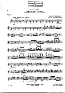 Benjamin A. - Jamaican Rumba for Violin and Piano (arr. Primrose W.)