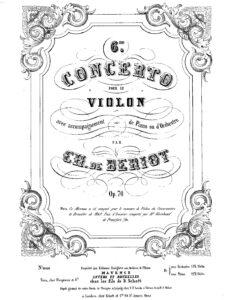 Beriot C. - Concerto No.6 A-dur op.70 for Violin V.2