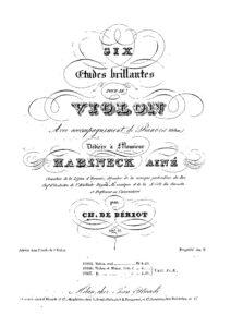 Beriot S. - 6 Brilliant Etudes for Violin