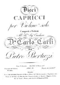 Bertuzzi P. - 10 Caprices for Violin Solo