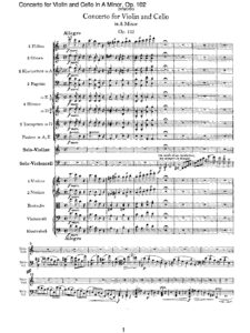 Brahms J. - Concerto For Violin and Cello In A Minor Op.102 Score 68S