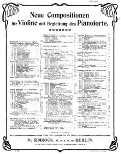 Bruch M. - Adagio Appassionato Op.57 for Violin and Piano V.2