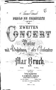 Bruch M. - Concert №2 Op.44 for Violin and Orchestra Score