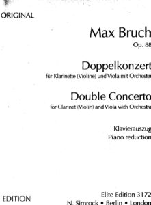 Bruch M. - Concerto for Clarinet (Violin) and Viola with Orchestra Op.88