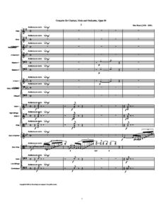 Bruch M. - Concerto for Clarinet (Violin) and Viola with Orchestra Op.88 Score