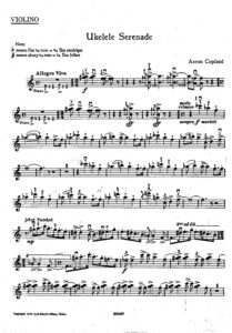 Copland A. - Ukelele Serenade for Violin and Piano