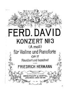 David F. - Concert №3 a-moll for Violin and Orchestra Op.17 V.2