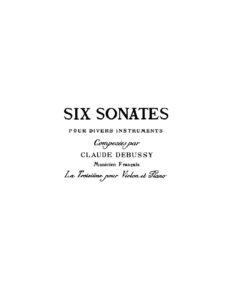 Debussy C. - Sonata g-moll for Violin and Piano V.2