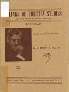 Dounis D.C. - Change of Position Studies Op.36