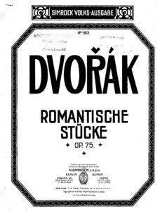 Dvorak A. - Romantic Pieces for Violin and Piano