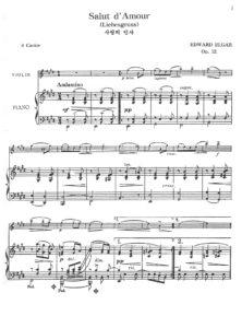 Elgar E. - Salut d`Amour for Violin and Piano V.2