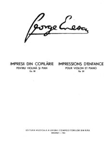 Enesco G. - Impressions d`Enfance for Violin and Piano Op.28