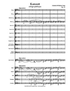 Ernst H. - Concerto for Violin and Orchestra Op.23 Score
