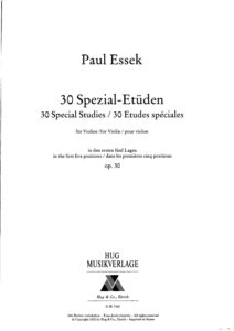 Essek P. - 30 Special Etudes for Violin