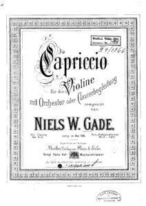 Gade N. - Capriccio for Violin and Piano