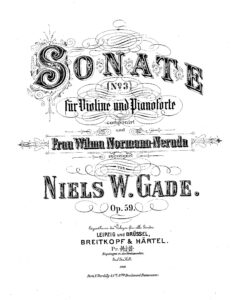Gade N. - Sonata №3 for Violin and Piano Op.59