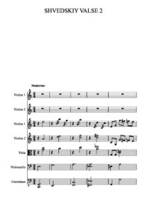 Geis S.-Frolov I. - Farewell Waltz for Two Violins with Orchestra Score
