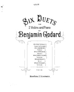 Godard B. - 6 Duets for Two Violins and Piano