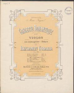 Godard B. - Concert №1 Op.35 for Violin and Orchestra Score V.2
