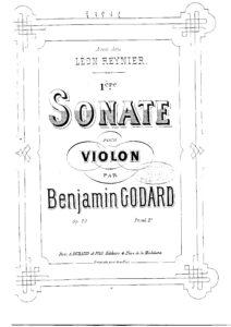 Godard B. - Sonata №1 for Violin Solo Op.20