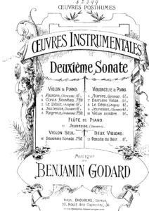 Godard B. - Sonata №2 for Violin Solo