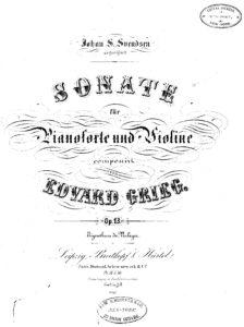 Grieg E. - Sonata No.2 G-dur for Violin and Piano V.2