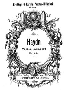 Haydn J. - Concerto for Violin and Orchestra in C-Dur HobVIIa-1 Score