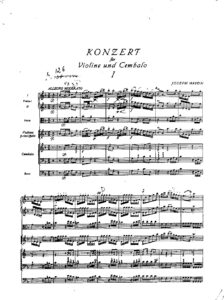 Haydn J. - Concerto for Violin and Piano with Chamber Orchestra Score