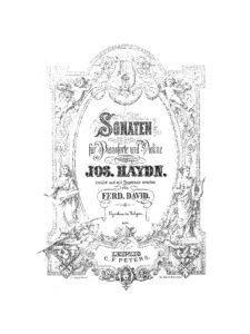 Haydn J. - Sonata for Violin and Piano