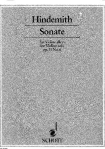 Hindemith P. - Sonata for Solo Violin Op.11 №6