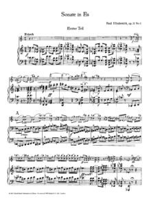 Hindemith P. - Sonata in Es for Violin and Piano Op.11 №1